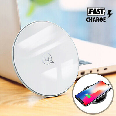 Qi Fast Wireless Charger Charging Pad For iPhone X 8 Plus - Galaxy S9 S8 Note 8
