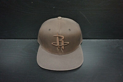 Houston Rockets Mitchell and Ness Strapback Hat All Brown Design