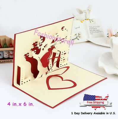 Mother Mothers Day 3D Pop Up Greeting Card Saying Love to MOM Thank you Gift