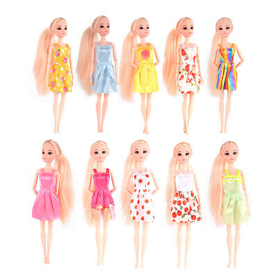 USA 10pcsLot Fashion Party Daily Wear Dress Outfits Clothes For Barbie Doll Toy