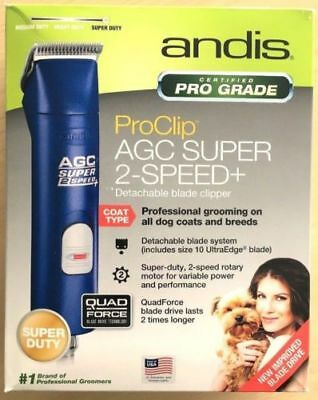 Andis AGC Super 2-Speed Professional Animal Clipper Blue