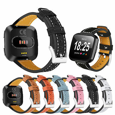 For Fitbit Versa  2 Genuine Leather Band Wristband Replacement Strap Unisex