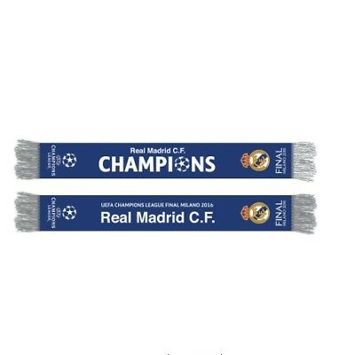 Real Madrid FC Final Scarf Milano Champions Ronaldo UEFA Champions League Milan