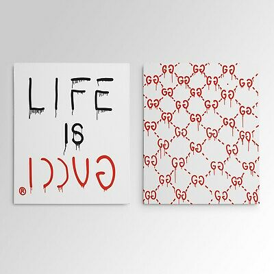 Life Is Gucci Gucci Ghost Gallery Art Canvas Pop Culture Hypebeast 2 Piece Set