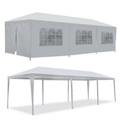 10x30 White Outdoor Gazebo Canopy Wedding Party Tent 8 Removable Walls 8