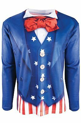 Fourth of July Patriotic Man Uncle Sam Adult Costume Medium