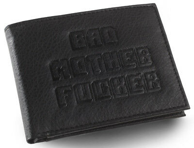 Black Embossed BMF Bad Mother Fuer Leather Wallet As Seen in Pulp Fiction
