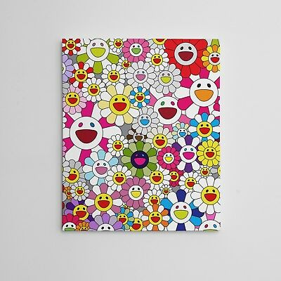 16x20 Gallery Art Canvas- Takashi Murakami Flowers Smiley Faces Complexcon