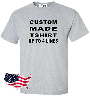 Custom Made Shirt Make Your Own Personalized 16 Tee Colors SM-6X
