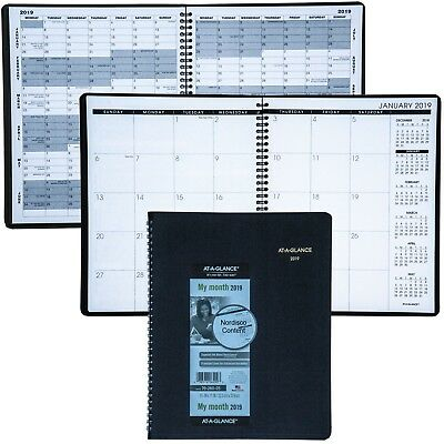 2019 At-A-Glance 70-260 70-260-05 Monthly Planner 8-78 x 11 Black Cover