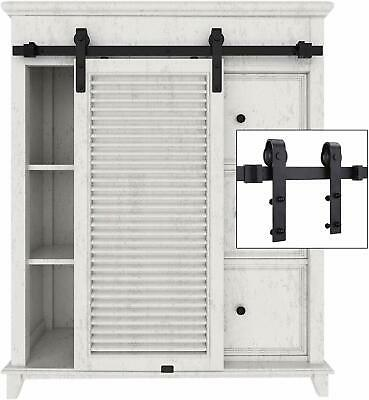 6-6 FT Sliding Barn Door Hardware Kit Track System Closet Antique Country Style