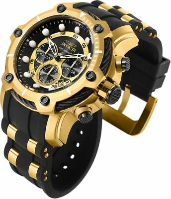 Invicta 26751 Bolt Mens Watch Stainless Steel Gold Black Chronograph