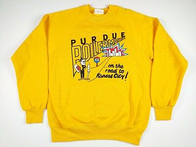 VTG Purdue Boilermakers Basketball Mens XL Crewneck NCAA March Madness 80S