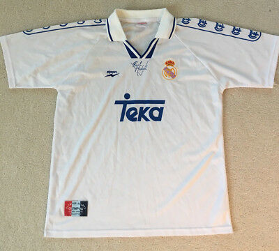 Mens 90s Real Madrid football jersey sz L large Olympus Teka retro soccer