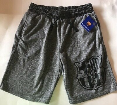 FC Barcelona Men's Shorts New Gray FCB Medium M NWT Soccer Messi Sweats Pockets