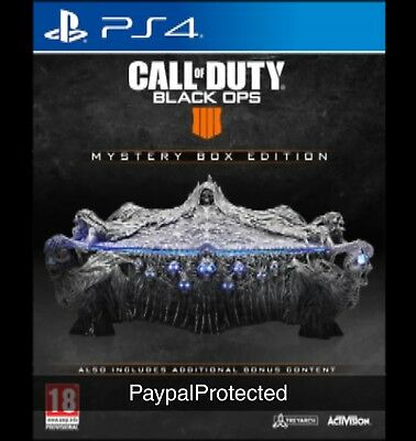 Call Of Duty Black Ops 4 Mystery Collectors Box Edition PS4 SHIPS ANYWHERE
