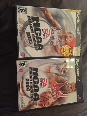 2 Ps2 Games Ncaa March Madness 2003 And 2004