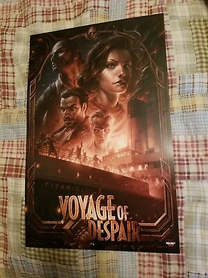 Call of Duty Black Ops 4 Voyage of Despair Zombie Themed Promo Poster 11 x 17