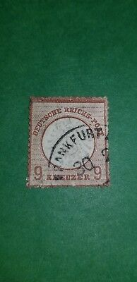 1872 Germany Imperial Eagle Postage Sc25  A4  9kr  red brown  used