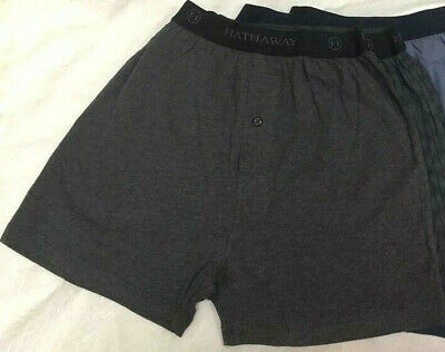 New 2 Pcs Hathaway Mens Knit Boxer short underwear COTTONSPANDEX S M  L XL 2XL