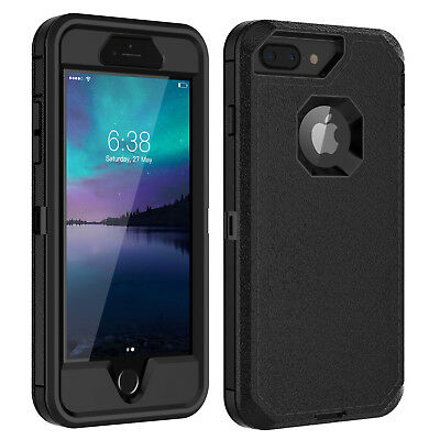 For iPhone 6 6s 7 8 Plus Case w Screen Protector Series Fits Defender Belt Clip