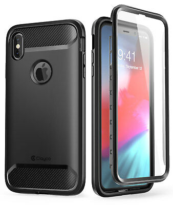 For Apple iPhone Xs Max 6-5 2018 Clayco Xenon Series Case Cover-Screen Protector