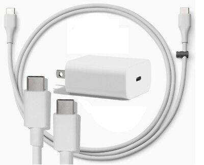 Google Pixel Charger 18W Wall Plug with USB-C to USB-C Cable Original New