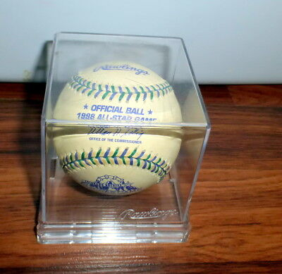 1998 Official Rawlings All-Star Game Baseball Colorado Rockies In Plastic Case
