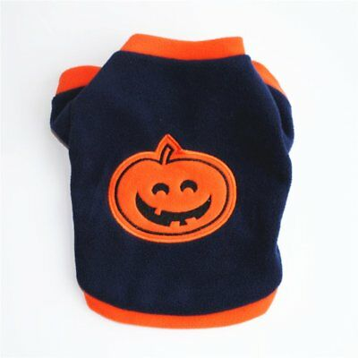 HALLOWEEN PUMPKIN STYLE DOG CLOTHES THICK WARM COAT PULLOVER PET DOG OUTFIT BY