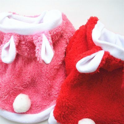 CUTE RABBIT DOG CLOTHES THICK WARM JACKET FASHION AUTUMN WINTER PET DOG OUTFIT Y