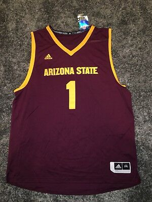 Arizona State Sun Devils Adidas Basketball March Madness Replica Jersey Mens 2XL