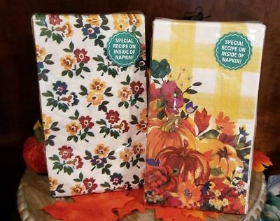NEW PIONEER WOMAN NAPKINS PAPER FALL THANKSGIVING PUMPKIN  NEW PATTERNS