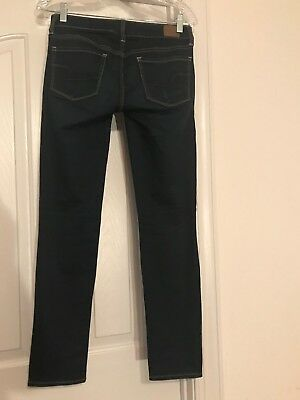 American Eagle Outfitters Womens Size 4 Short Skinny Super Stretch Jeans Dark