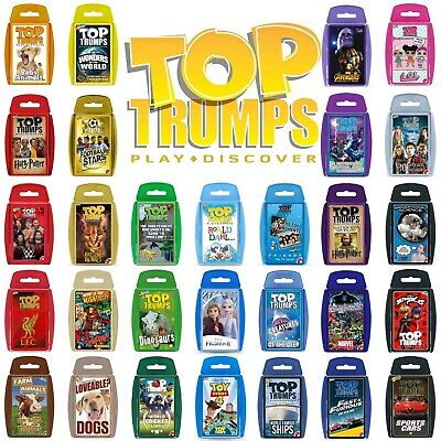 Top Trumps Card Games - Play and Discover - Largest Range - 130+ to choose from!