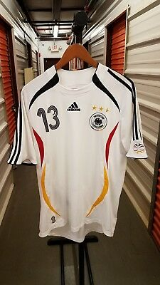 2010 Fifa World Cup Germany National Team Ballack Soccer Jersey Adidas Large