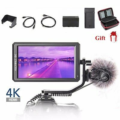 Feelworld F6 Pro 5-7 IPS 4K HDMI On Camera Video Monitor for DSLR Stabilizer