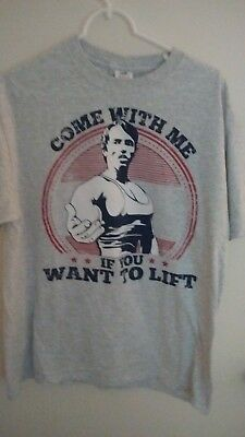 Arnold Schwarzenegger Mens Gym Come With Me If You Want To Lift T-SHIRT