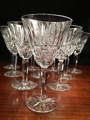 9 Waterford Crystal Water Goblets - 6 78 High - 3 34 Wide