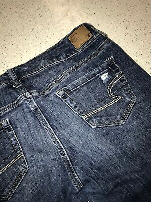 AMERICAN EAGLE OUTFITTERS kick boot SUPER STRETCH WOMENS JEANS SIZE 10