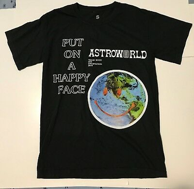 Travis Scott Put On A Happy Face Tee Lollapalooza exclusive size small