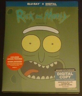 Rick and Morty Season 3 Blu-Ray Complete Third Season  New Sealed Slipcover