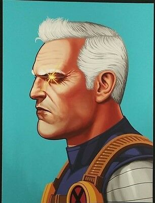 Mike Mitchell  Mondo Marvel CABLE  Portrait Print Giclee Proof Free Ship