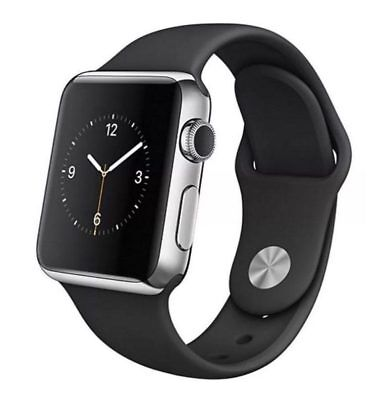 Apple Watch 1st Gen 38mm Stainless Steel SS Space Black - Black Sport Band