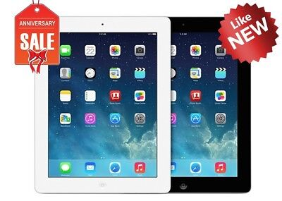 Apple iPad 4 WiFi - GSM Unlocked  Black or White  16GB 32GB 64GB 128GB
