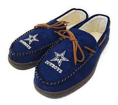 NFL Dallas Cowboys Mens Colored Moccasin Hard Slippers-New