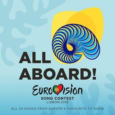 All Aboard Eurovision Song Contest Lisbon 2018 2 CD Set All 43 Songs Aboard