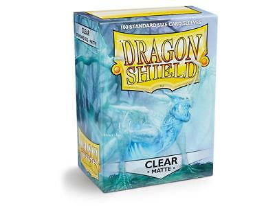 10 Packs Clear Matte Dragon Shield 1000 Card Sleeves 100ct Display Case