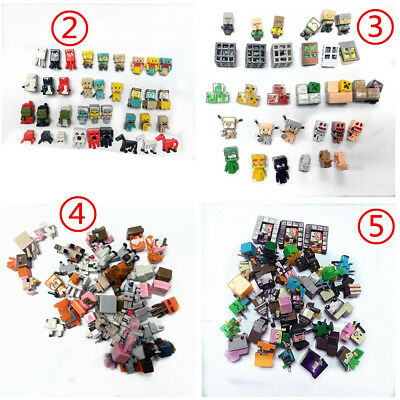 36PcsLot Minecraft Series 23 4 5 Mini Action Figure Toys Characters Sets