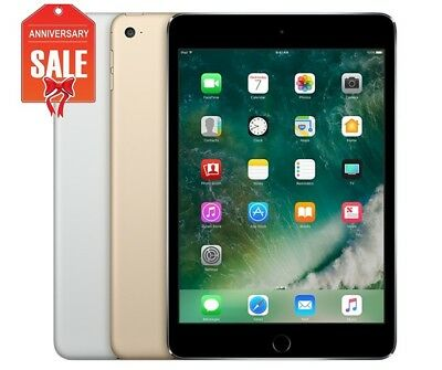 Apple iPad Mini 4 WiFi - Cellular Unlocked 16GB 32GB 64GB Gray Silver Gold U