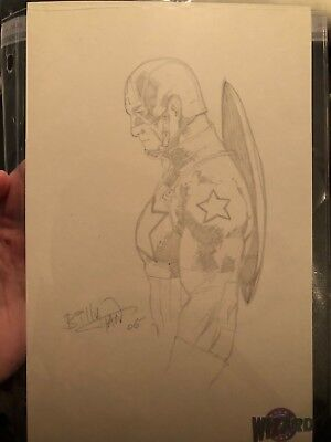 Billy Tan Sketch of Captain America Wizard World Philly Avengers End Game